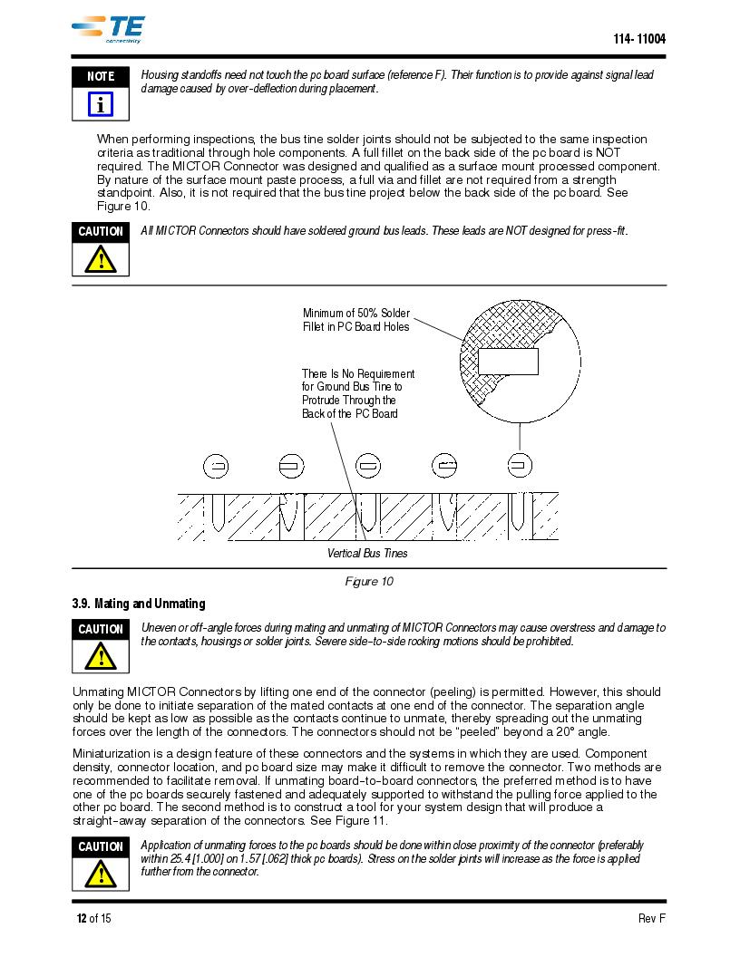 1-5767114-2 ,TE Connectivity厂商,CONN RCPT 190POS VERT BARBLESS, 1-5767114-2 datasheet预览  第12页