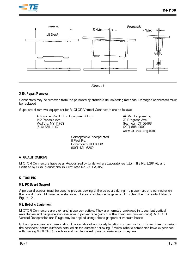 1-5767114-2 ,TE Connectivity厂商,CONN RCPT 190POS VERT BARBLESS, 1-5767114-2 datasheet预览  第13页