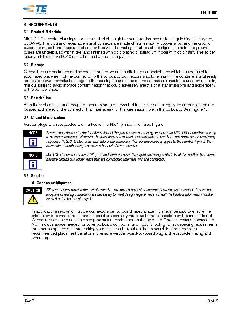 1-5767114-2 ,TE Connectivity厂商,CONN RCPT 190POS VERT BARBLESS, 1-5767114-2 datasheet预览  第3页