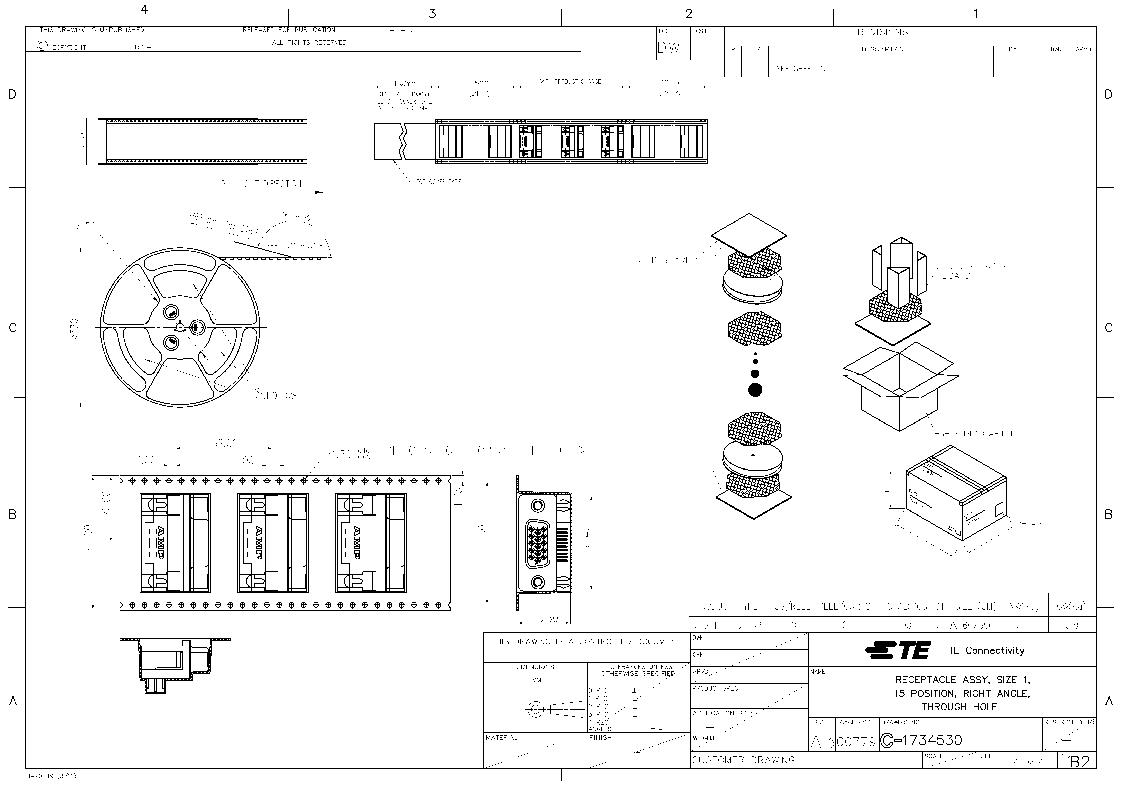1734530-6 ,TE Connectivity厂商,CONN D-SUB 15RCPT R/A 30AU T/H, 1734530-6 datasheet预览  第4页