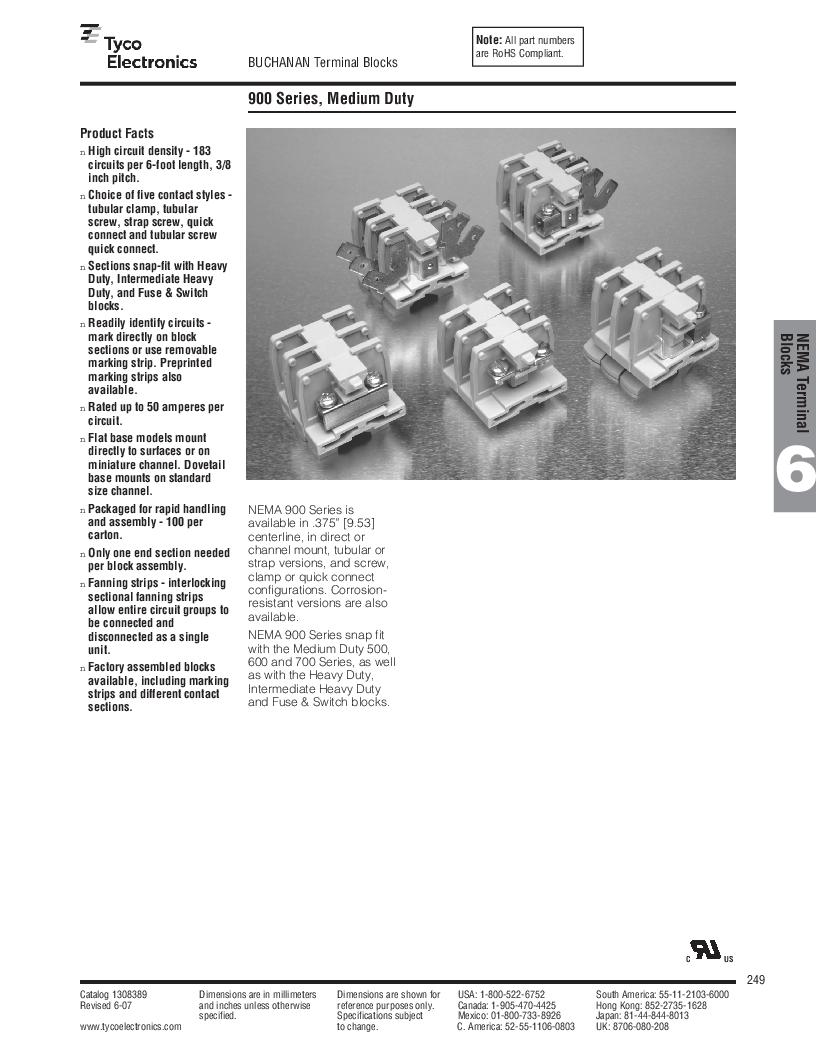 1-1437392-8 ,TE Connectivity厂商,DIN Rail Terminal Blocks TERM BLOCK END SECTION NEMA GRAY, 1-1437392-8 datasheet预览  第11页