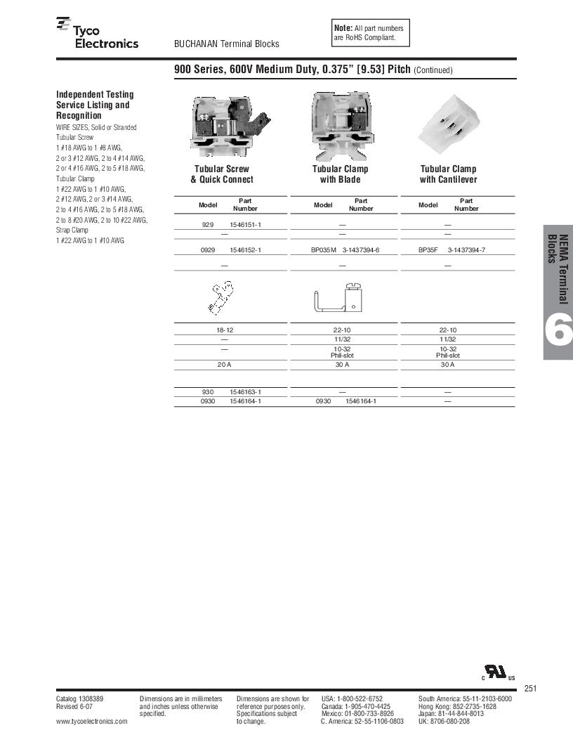 1-1437392-8 ,TE Connectivity厂商,DIN Rail Terminal Blocks TERM BLOCK END SECTION NEMA GRAY, 1-1437392-8 datasheet预览  第13页