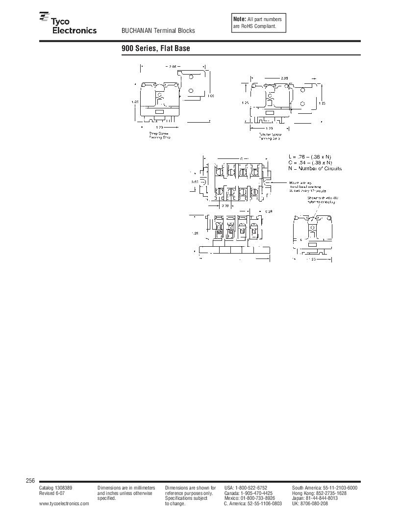 1-1437392-8 ,TE Connectivity厂商,DIN Rail Terminal Blocks TERM BLOCK END SECTION NEMA GRAY, 1-1437392-8 datasheet预览  第18页
