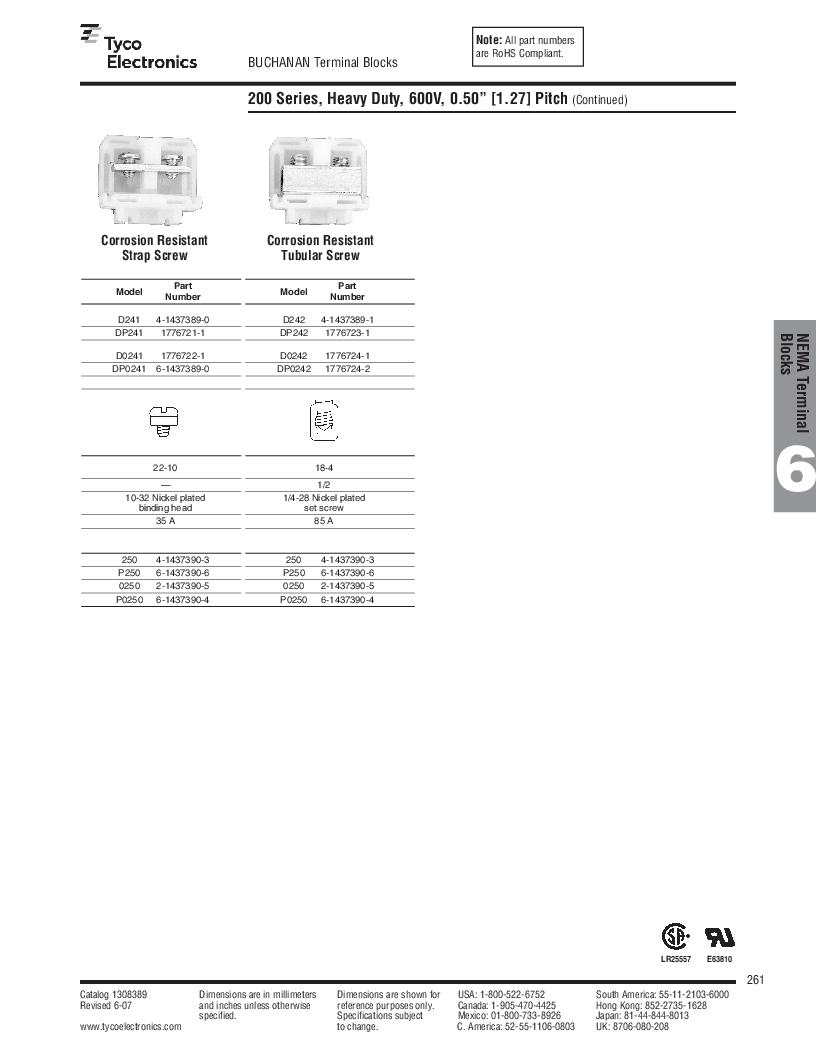 1-1437392-8 ,TE Connectivity厂商,DIN Rail Terminal Blocks TERM BLOCK END SECTION NEMA GRAY, 1-1437392-8 datasheet预览  第23页
