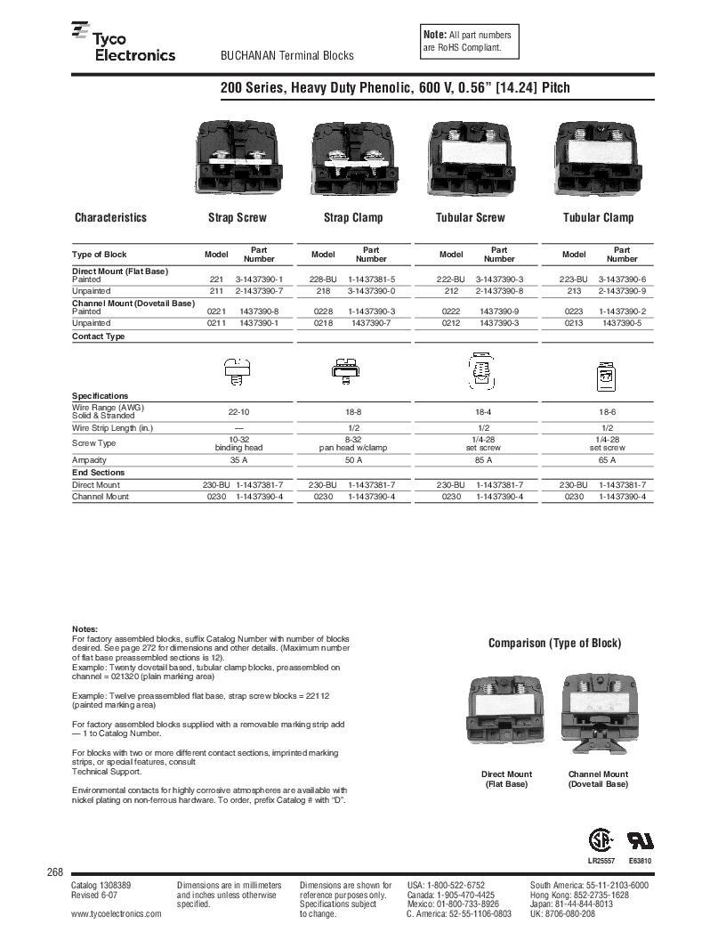 1-1437392-8 ,TE Connectivity厂商,DIN Rail Terminal Blocks TERM BLOCK END SECTION NEMA GRAY, 1-1437392-8 datasheet预览  第30页