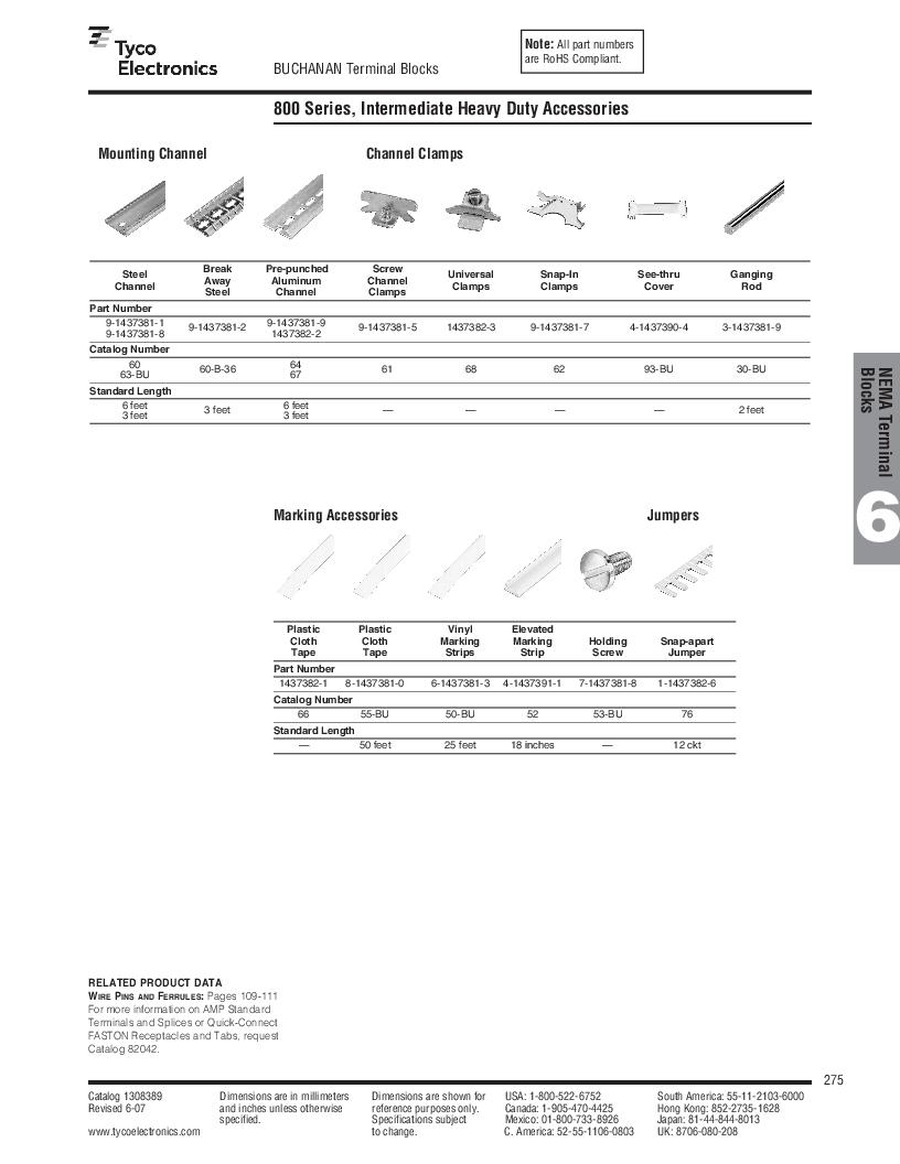 1-1437392-8 ,TE Connectivity厂商,DIN Rail Terminal Blocks TERM BLOCK END SECTION NEMA GRAY, 1-1437392-8 datasheet预览  第37页