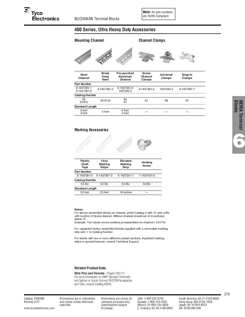 1-1437392-8 ,TE Connectivity厂商,DIN Rail Terminal Blocks TERM BLOCK END SECTION NEMA GRAY, 1-1437392-8 datasheet预览  第41页