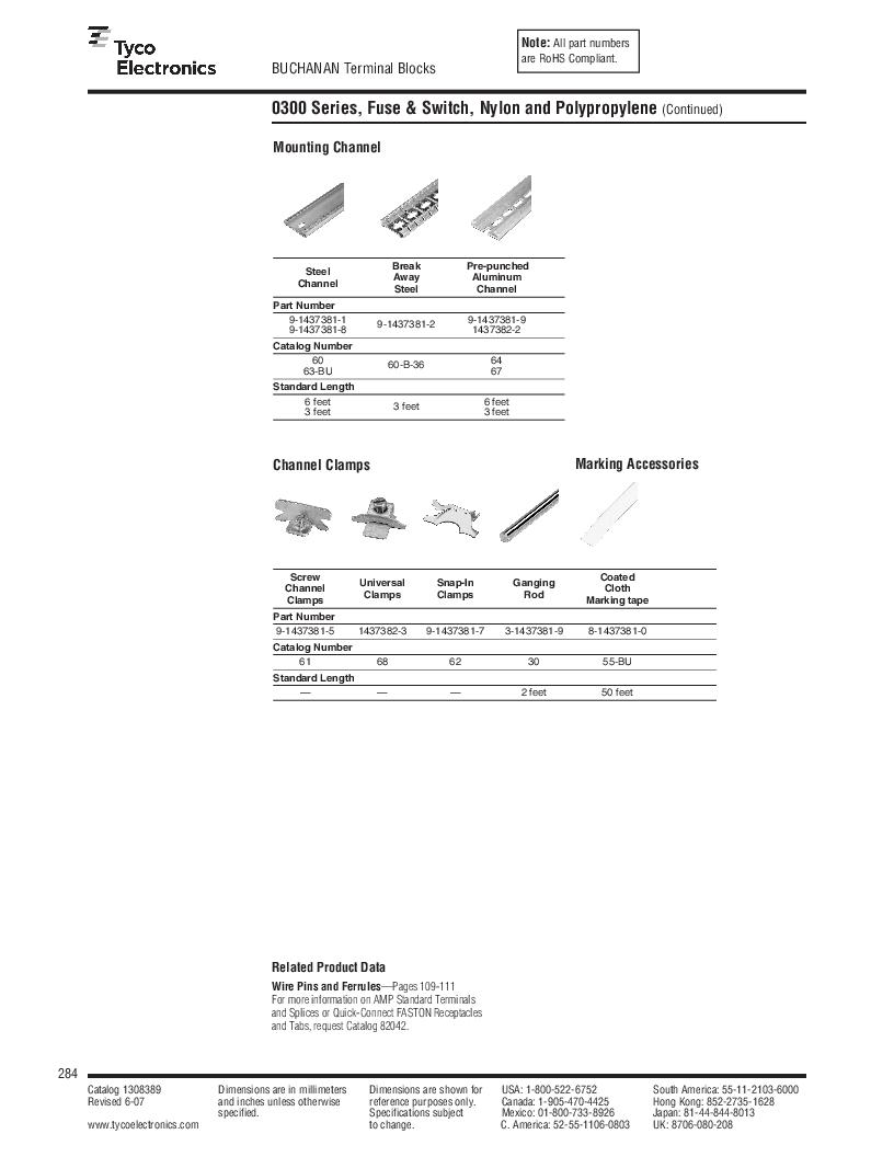 1-1437392-8 ,TE Connectivity厂商,DIN Rail Terminal Blocks TERM BLOCK END SECTION NEMA GRAY, 1-1437392-8 datasheet预览  第46页