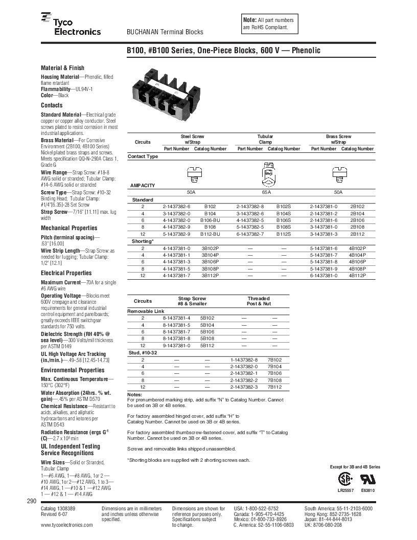 1-1437392-8 ,TE Connectivity厂商,DIN Rail Terminal Blocks TERM BLOCK END SECTION NEMA GRAY, 1-1437392-8 datasheet预览  第52页