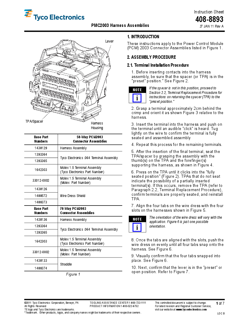 1-1438136-4 ,TE Connectivity厂商,Automotive Connectors GET PCM 2003 70 WAY PLUG ASSEM, 1-1438136-4 datasheet预览  第1页