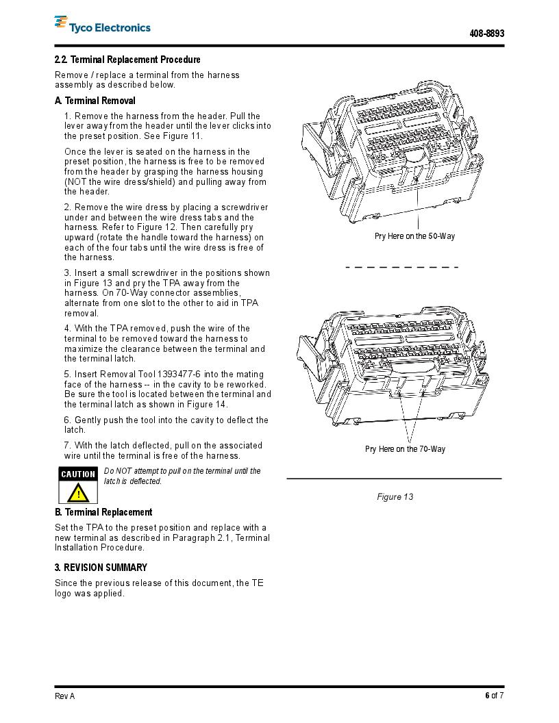 1-1438136-4 ,TE Connectivity厂商,Automotive Connectors GET PCM 2003 70 WAY PLUG ASSEM, 1-1438136-4 datasheet预览  第6页