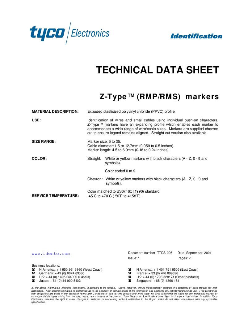 EC5679-000 ,TE Connectivity厂商,Wire Identification 11551924, EC5679-000 datasheet预览  第1页