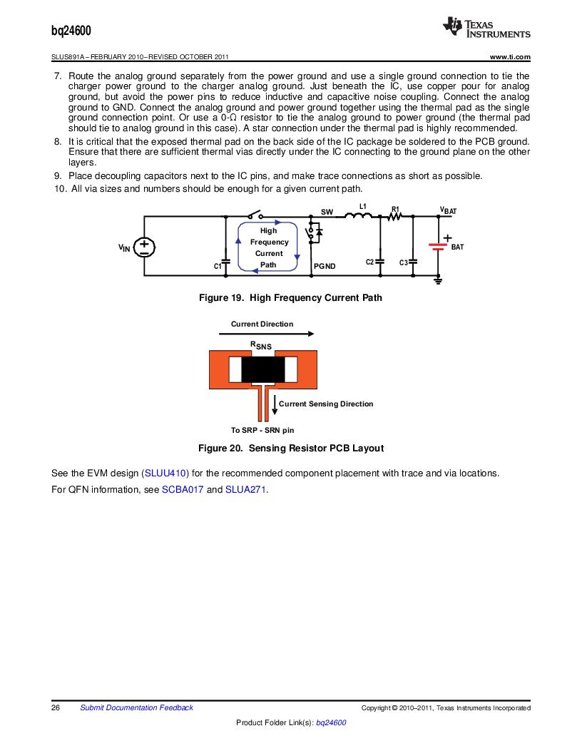 BQ24600RVAR ,Texas Instruments厂商,IC SYNC SW-MODE BAT CHRGR 16VQFN, BQ24600RVAR datasheet预览  第26页