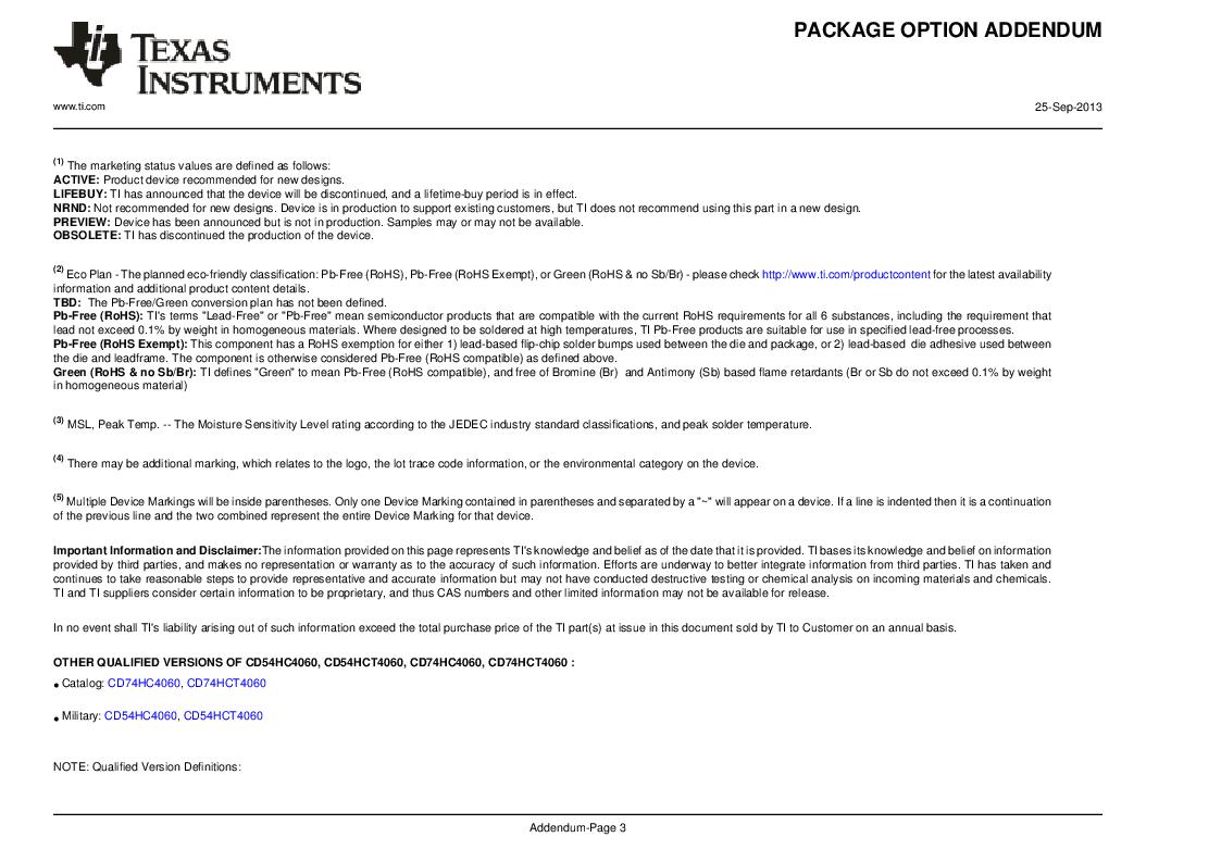 Cd74hc4060pwtg4 Pdftexas Instrumentsdatasheet21ic Ic 4060 Datasheet Texas Instrumentsic 14 Stage Bin Counter 16 Tssop