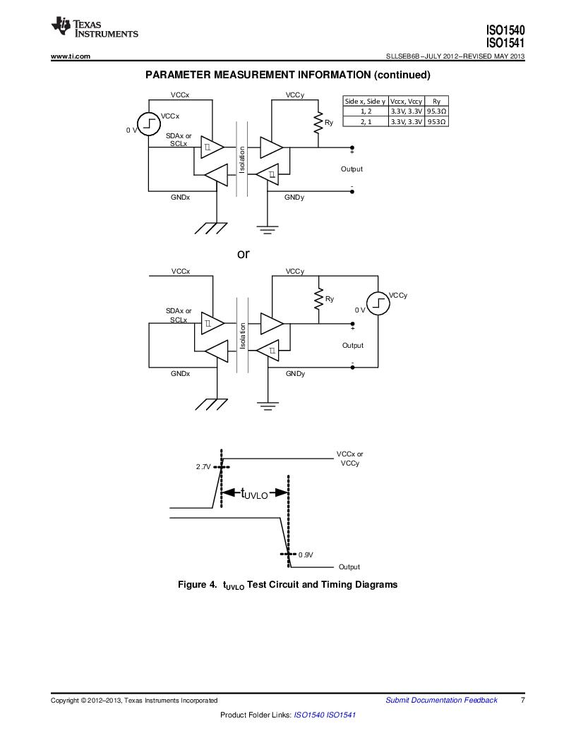 ISO1541D ,Texas Instruments厂商,ISOL BIDIR I2C LP 8SOIC, ISO1541D datasheet预览  第7页