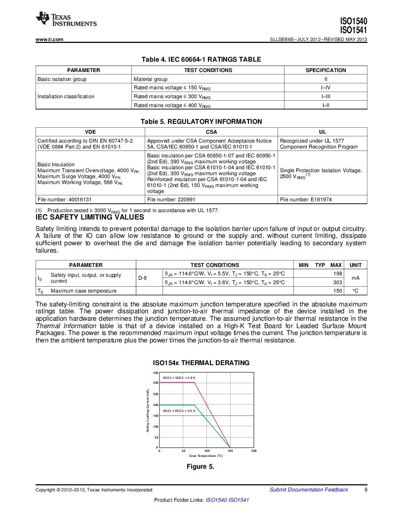 ISO1541D ,Texas Instruments厂商,ISOL BIDIR I2C LP 8SOIC, ISO1541D datasheet预览  第9页