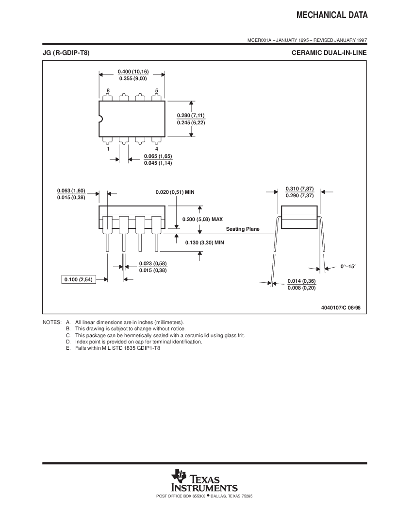 LM258 ,Texas Instruments厂商,Dual Operational Amplifier 8-PDIP -25 to 85, LM258 datasheet预览  第22页