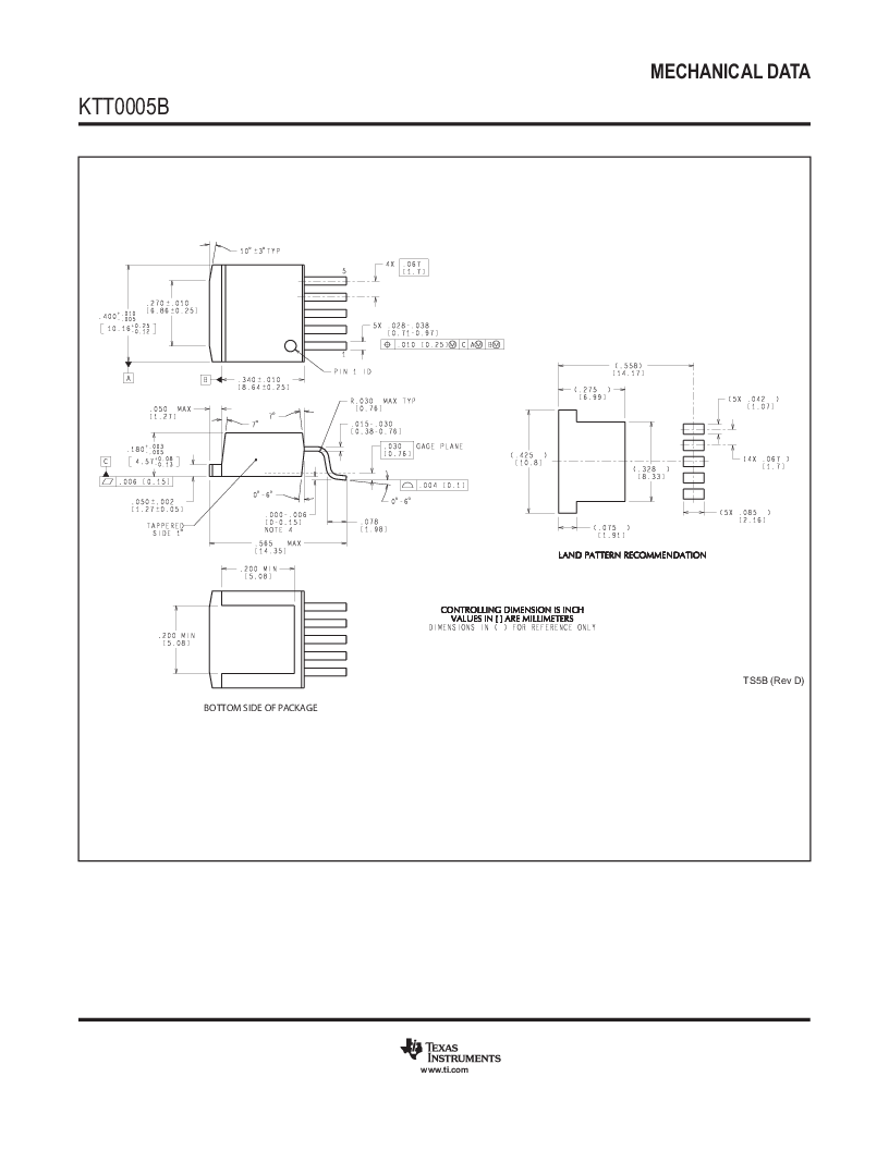 LM2596SX-5.0 ,Texas Instruments厂商,Switching Converters, Regulators & Controllers, LM2596SX-5.0 datasheet预览  第39页