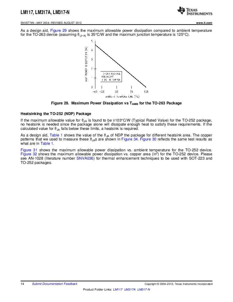 LM317AEMP ,Texas Instruments厂商,IC REG LDO ADJ 1A SOT-223, LM317AEMP datasheet预览  第14页