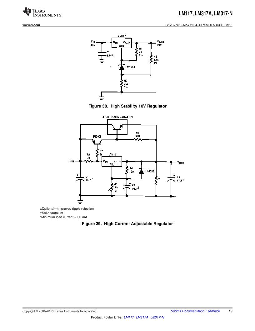 LM317AEMP ,Texas Instruments厂商,IC REG LDO ADJ 1A SOT-223, LM317AEMP datasheet预览  第19页
