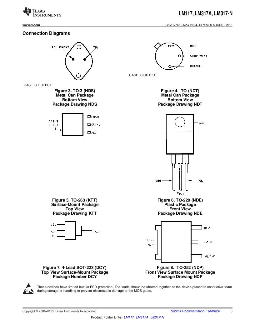 LM317AEMP ,Texas Instruments厂商,IC REG LDO ADJ 1A SOT-223, LM317AEMP datasheet预览  第3页