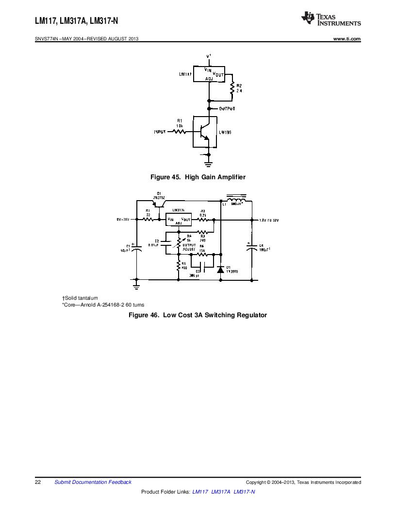 LM317AEMP ,Texas Instruments厂商,IC REG LDO ADJ 1A SOT-223, LM317AEMP datasheet预览  第22页