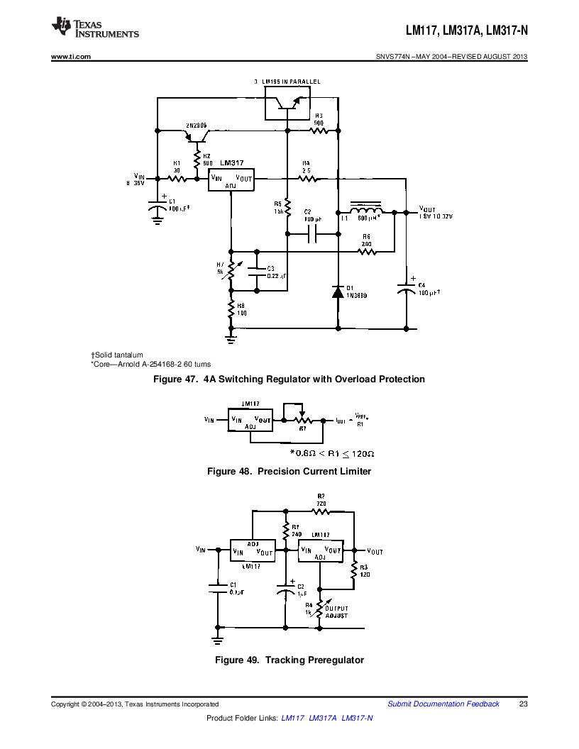 LM317AEMP ,Texas Instruments厂商,IC REG LDO ADJ 1A SOT-223, LM317AEMP datasheet预览  第23页