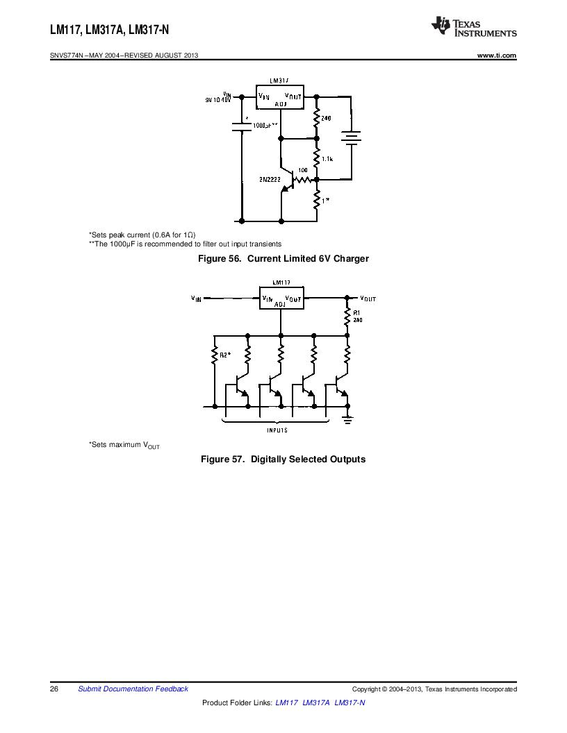 LM317AEMP ,Texas Instruments厂商,IC REG LDO ADJ 1A SOT-223, LM317AEMP datasheet预览  第26页