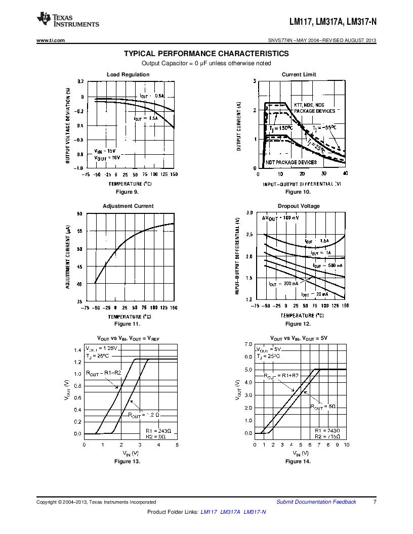LM317AEMP ,Texas Instruments厂商,IC REG LDO ADJ 1A SOT-223, LM317AEMP datasheet预览  第7页