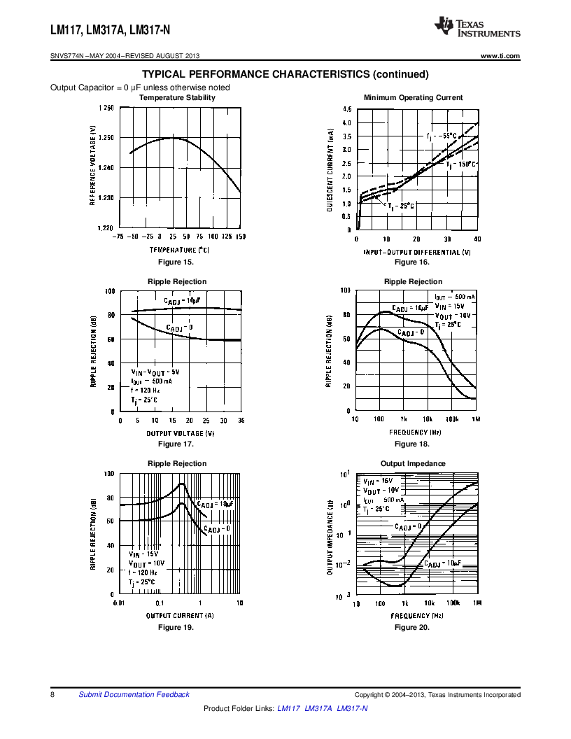 LM317AEMP ,Texas Instruments厂商,IC REG LDO ADJ 1A SOT-223, LM317AEMP datasheet预览  第8页