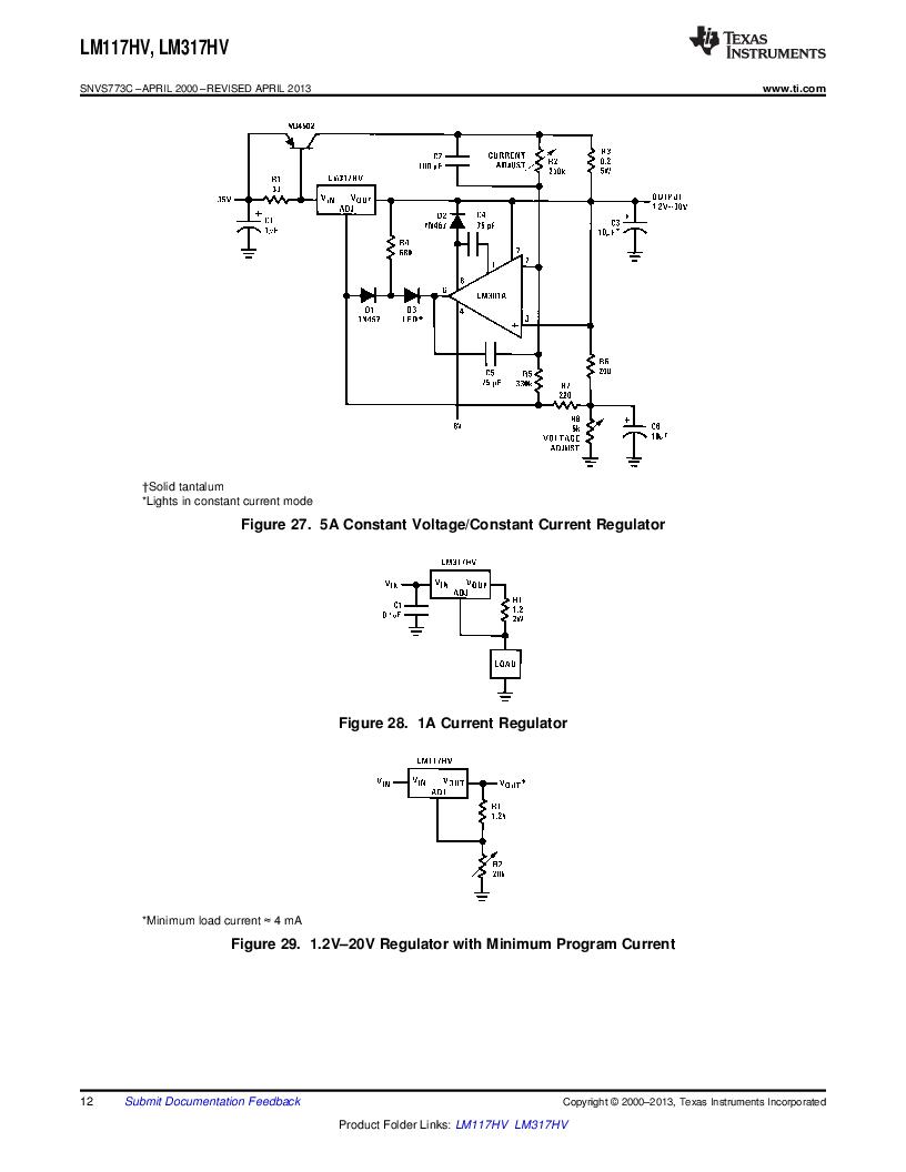 LM317HVK STEEL/NOPB ,Texas Instruments厂商,IC REG LDO ADJ 1.5A TO-3, LM317HVK STEEL/NOPB datasheet预览  第12页