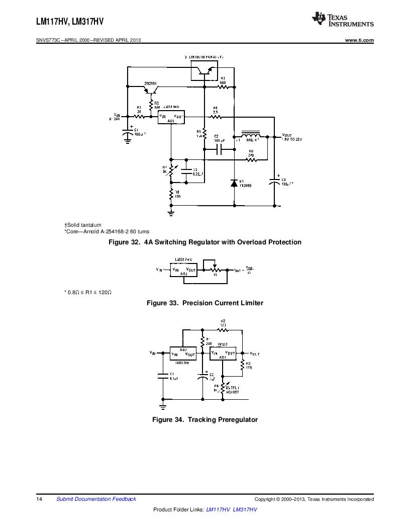 LM317HVK STEEL/NOPB ,Texas Instruments厂商,IC REG LDO ADJ 1.5A TO-3, LM317HVK STEEL/NOPB datasheet预览  第14页