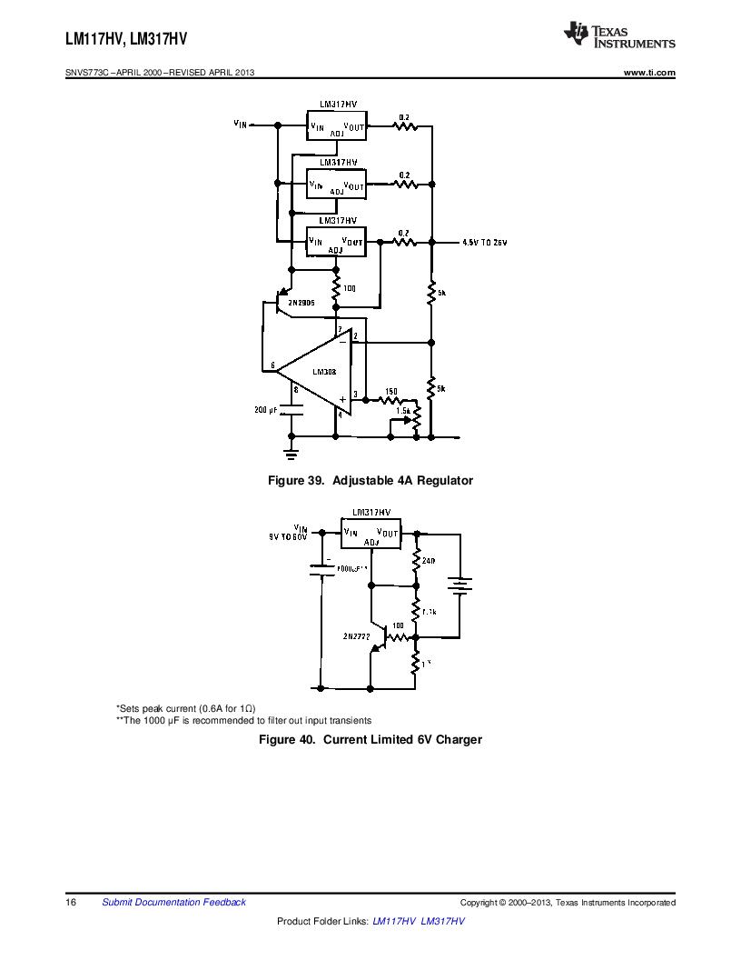 LM317HVK STEEL/NOPB ,Texas Instruments厂商,IC REG LDO ADJ 1.5A TO-3, LM317HVK STEEL/NOPB datasheet预览  第16页