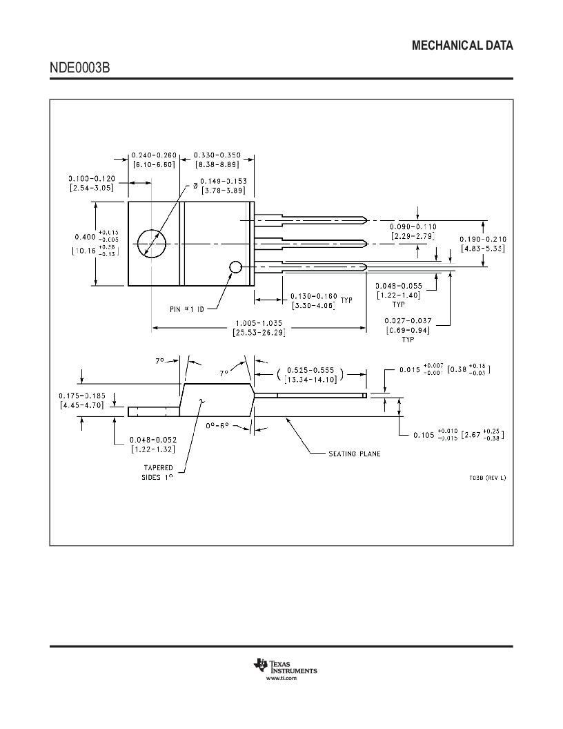 LM317HVK STEEL/NOPB ,Texas Instruments厂商,IC REG LDO ADJ 1.5A TO-3, LM317HVK STEEL/NOPB datasheet预览  第22页