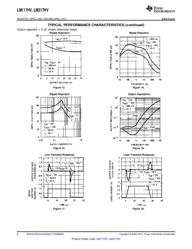 LM317HVK STEEL/NOPB ,Texas Instruments厂商,IC REG LDO ADJ 1.5A TO-3, LM317HVK STEEL/NOPB datasheet预览  第6页