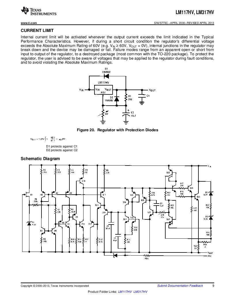 LM317HVK STEEL/NOPB ,Texas Instruments厂商,IC REG LDO ADJ 1.5A TO-3, LM317HVK STEEL/NOPB datasheet预览  第9页