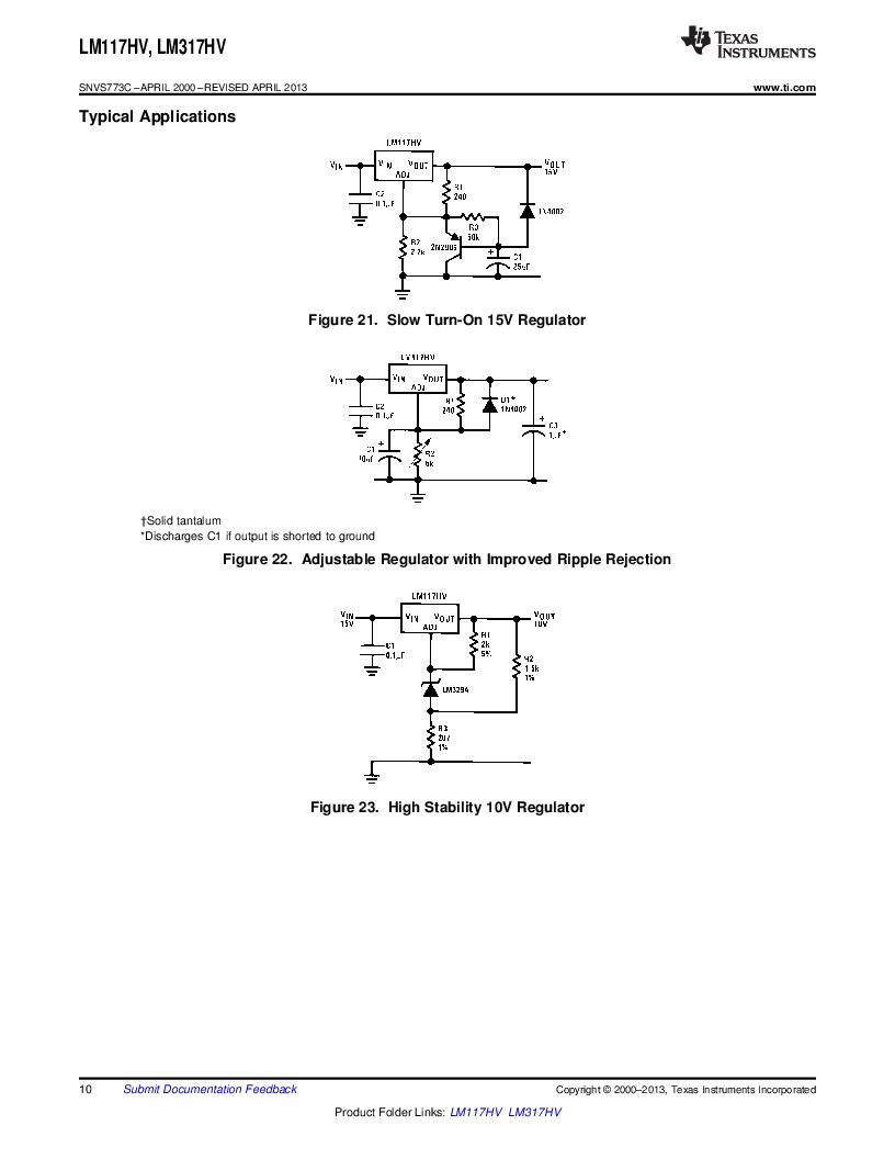 LM317HVK STEEL/NOPB ,Texas Instruments厂商,IC REG LDO ADJ 1.5A TO-3, LM317HVK STEEL/NOPB datasheet预览  第10页