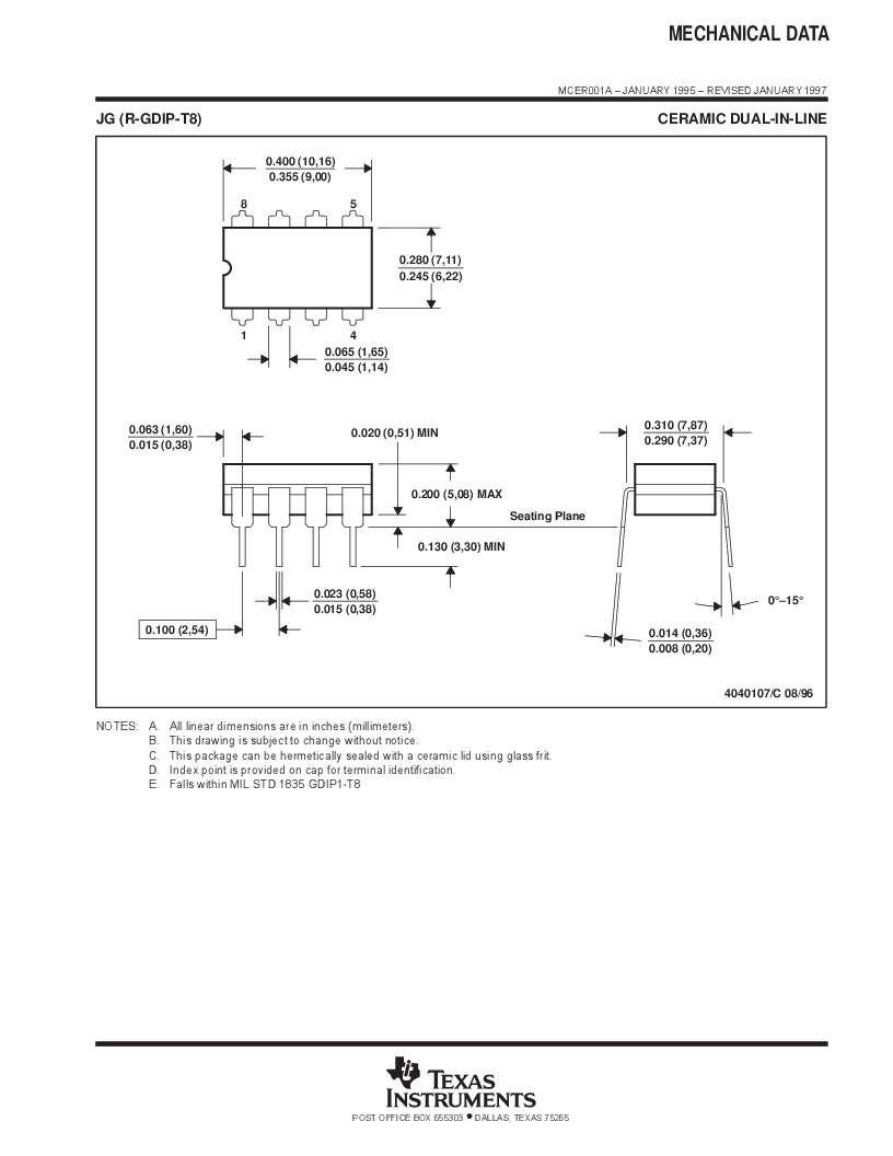 LM393AD ,Texas Instruments厂商,IC DUAL DIFF COMPARATOR 8-SOIC, LM393AD datasheet预览  第17页