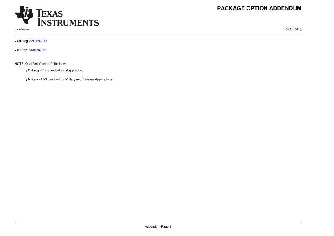 SN74HC148N ,Texas Instruments厂商,IC 8-TO-3 PRIORITY ENCOD 16-DIP, SN74HC148N datasheet预览  第10页