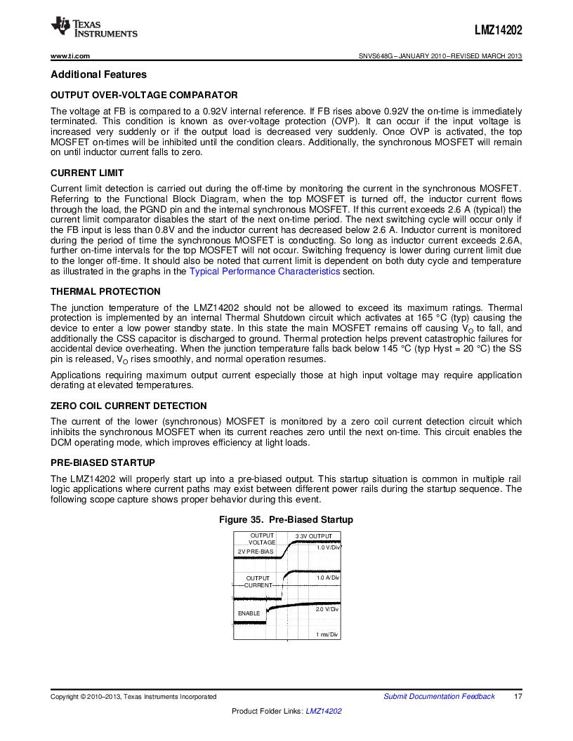 LMZ14202TZ-ADJ/NOPB ,Texas Instruments厂商,DC/DC Switching Converters 42V,2A PWR MODULE, LMZ14202TZ-ADJ/NOPB datasheet预览  第17页