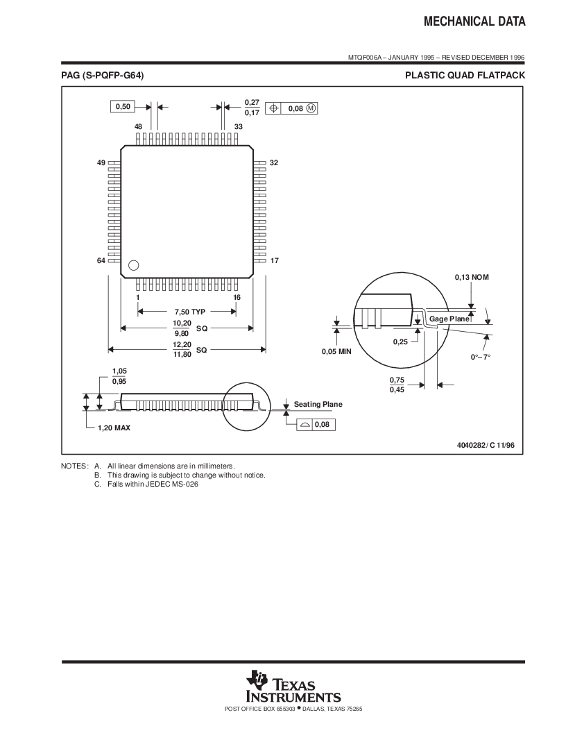 MSP430F147IPMR-KAM ,Texas Instruments厂商,16-Bit Ultra-Low-Power Microcontroller, 32 kB Flash, 1KB RAM, 12 bit ADC, 2 USARTs, HW multiplier 64-LQFP -40 to 85, MSP430F147IPMR-KAM datasheet预览  第63页
