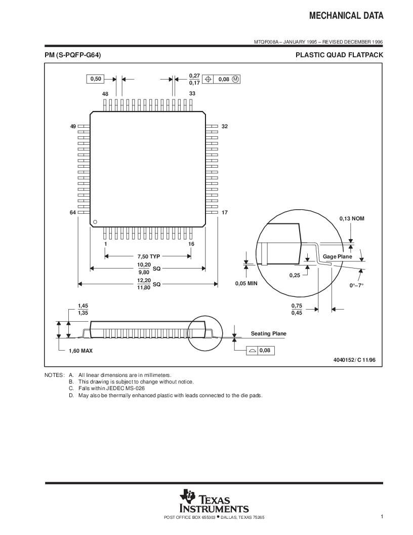 MSP430F147IPMR-KAM ,Texas Instruments厂商,16-Bit Ultra-Low-Power Microcontroller, 32 kB Flash, 1KB RAM, 12 bit ADC, 2 USARTs, HW multiplier 64-LQFP -40 to 85, MSP430F147IPMR-KAM datasheet预览  第64页