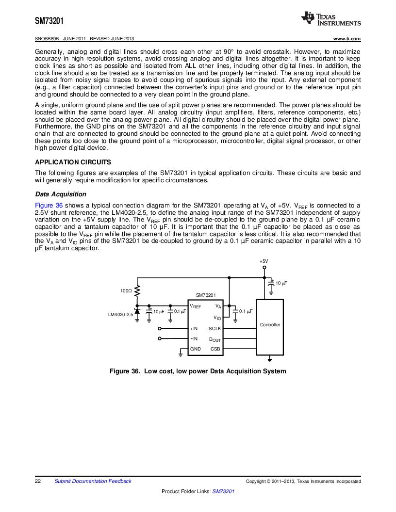 SM73201IMMX/NOPB ,Texas Instruments厂商,IC ADC 16BIT 50/250KSPS 10MSOP, SM73201IMMX/NOPB datasheet预览  第22页