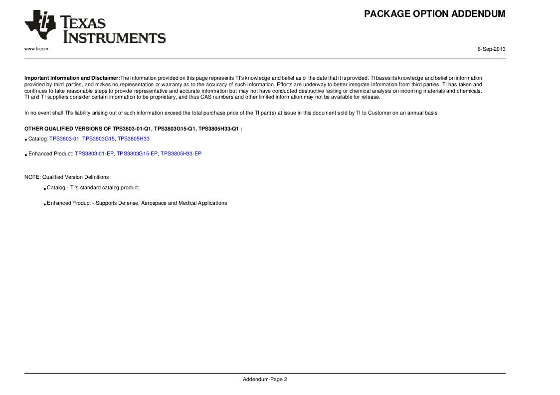 2T05H33QDCKRG4Q ,Texas Instruments厂商,Supervisory Circuits Auto Cat Dual Vltg Detectors, 2T05H33QDCKRG4Q datasheet预览  第13页