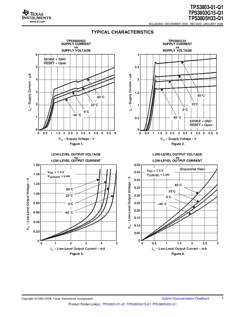 2T05H33QDCKRG4Q ,Texas Instruments厂商,Supervisory Circuits Auto Cat Dual Vltg Detectors, 2T05H33QDCKRG4Q datasheet预览  第7页