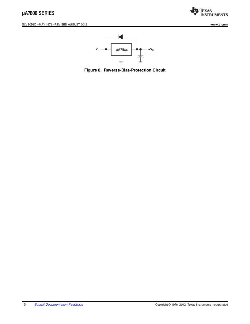UA7812CKC ,Texas Instruments厂商,3 Pin 1.5A Fixed 12V Positive Voltage Regulator 3-TO-220 0 to 125, UA7812CKC datasheet预览  第10页
