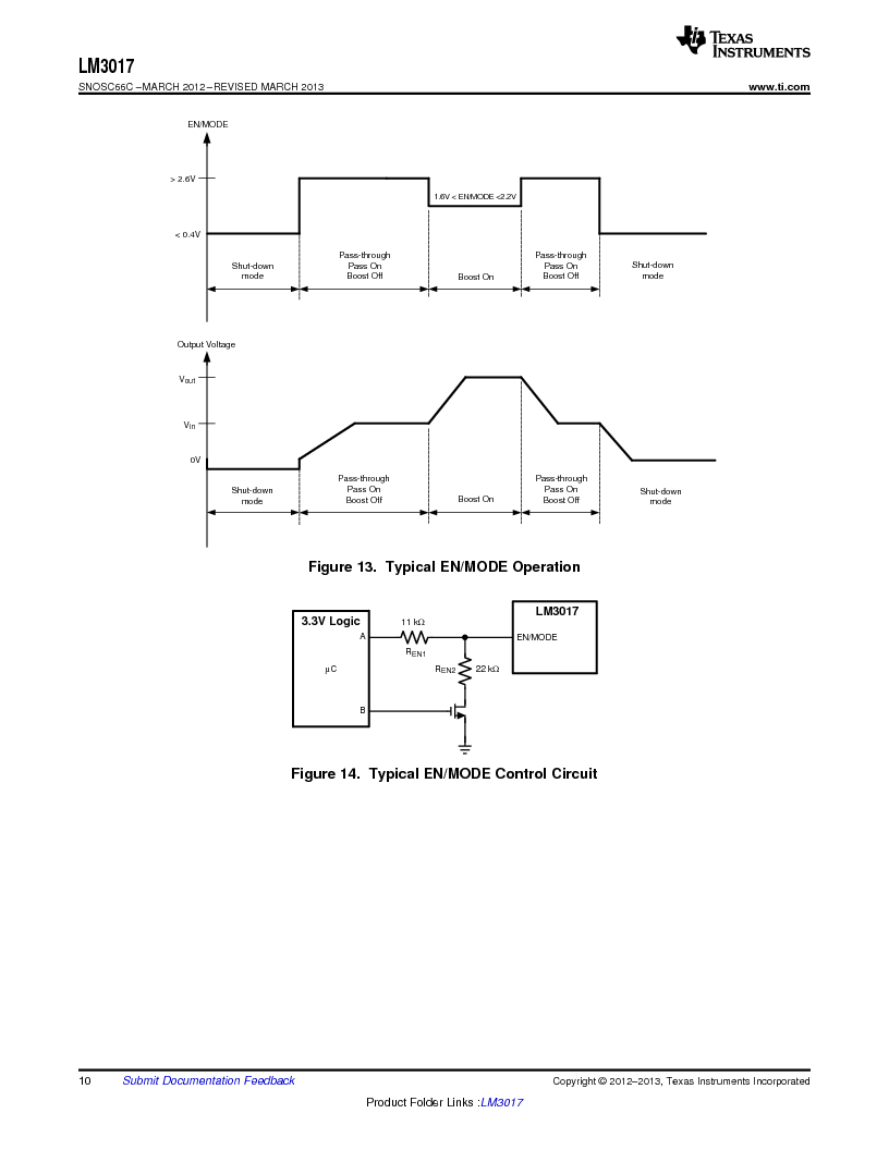 LM3017 ,Texas Instruments厂商,High Efficiency Low-Side Controller with True Shutdown 10-WQFN -40 to 125, LM3017 datasheet预览  第10页