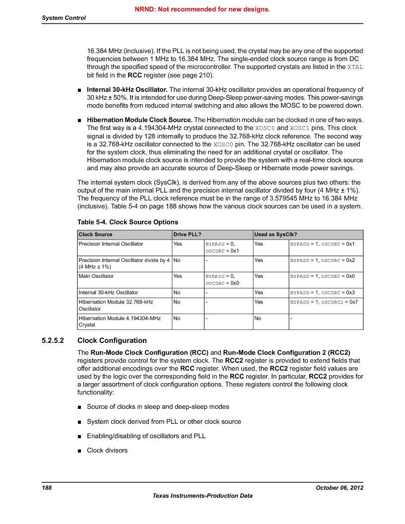 LM3S1B21 ,Texas Instruments厂商,Stellaris LM3S Microcontroller 100-LQFP -40 to 85, LM3S1B21 datasheet预览  第188页