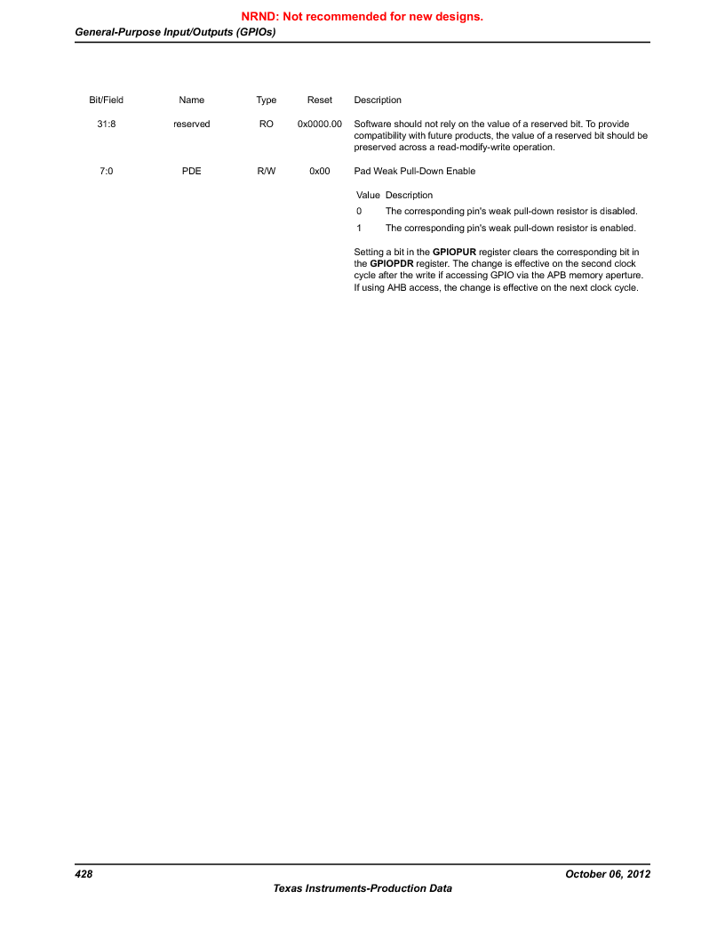 LM3S1B21 ,Texas Instruments厂商,Stellaris LM3S Microcontroller 100-LQFP -40 to 85, LM3S1B21 datasheet预览  第428页
