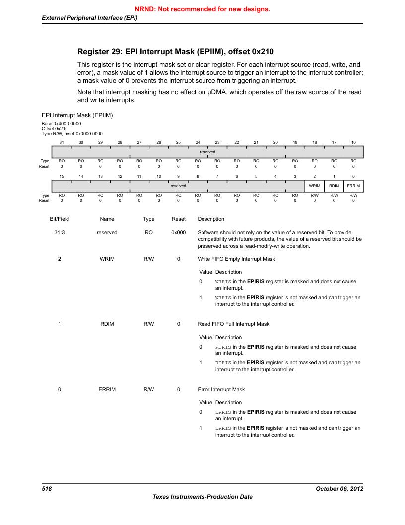 LM3S1B21 ,Texas Instruments厂商,Stellaris LM3S Microcontroller 100-LQFP -40 to 85, LM3S1B21 datasheet预览  第518页